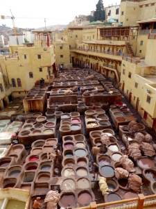 Leather dye factory