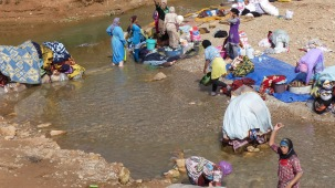 Locals washing clothes