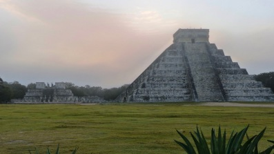 Chichen Itza at sunrise with the place to ourselves.